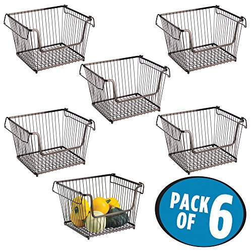 kitchen storage baskets wire mdesign open wire storage basket for kitchen pantry 6142