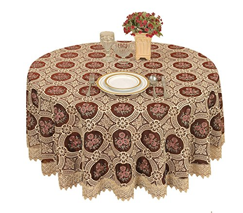 Simhomsen Small Vintage Burgundy Lace Tablecloth