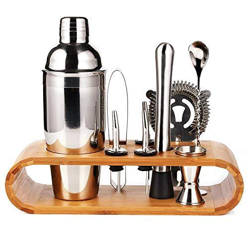 Bartender Kit Cocktail Shaker Set 10 Pc Bar Tool Set With