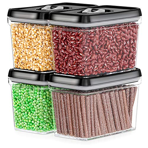 Pantry Food Storage Containers: DWELLZA KITCHEN Airtight Food Storage Containers
